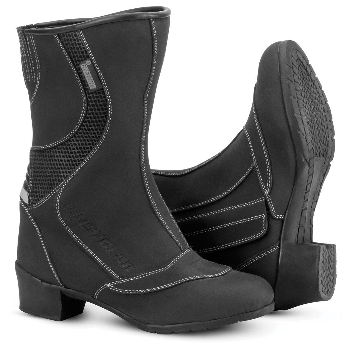 Firstgear Women's Zenster Waterproof Black Boots