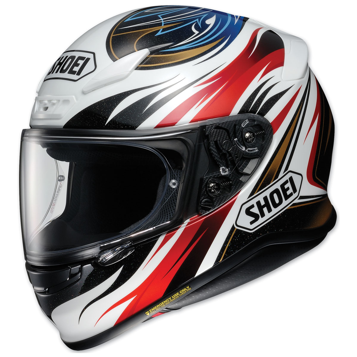 Shoei RF-1200 Incision Black/Red/White/Blue Full Face Helmet