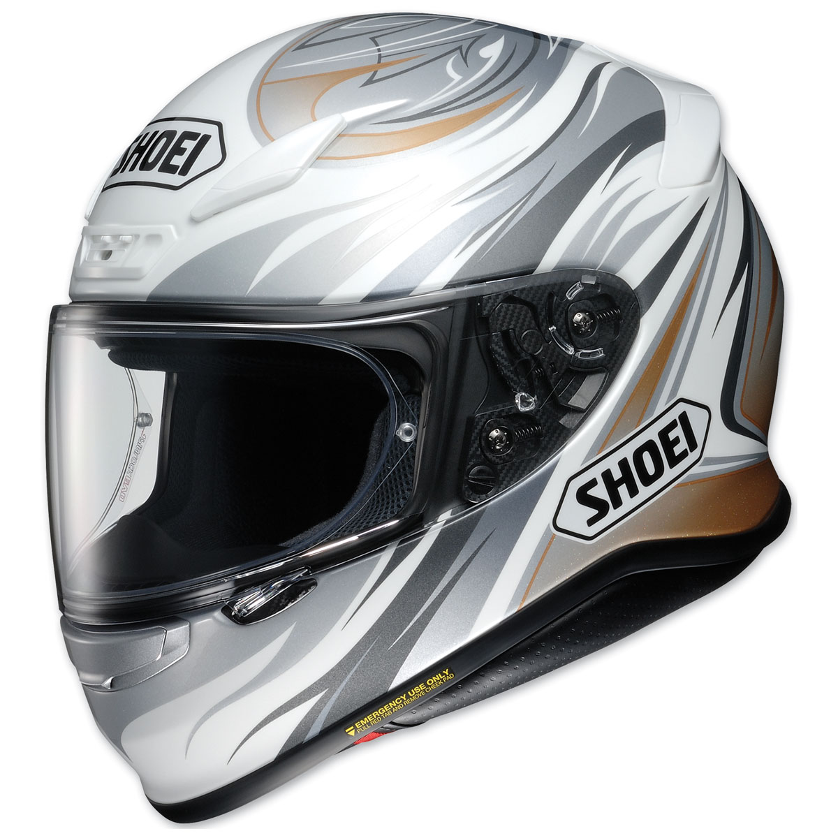 Shoei RF-1200 Incision White/Gray/Gold Full Face Helmet