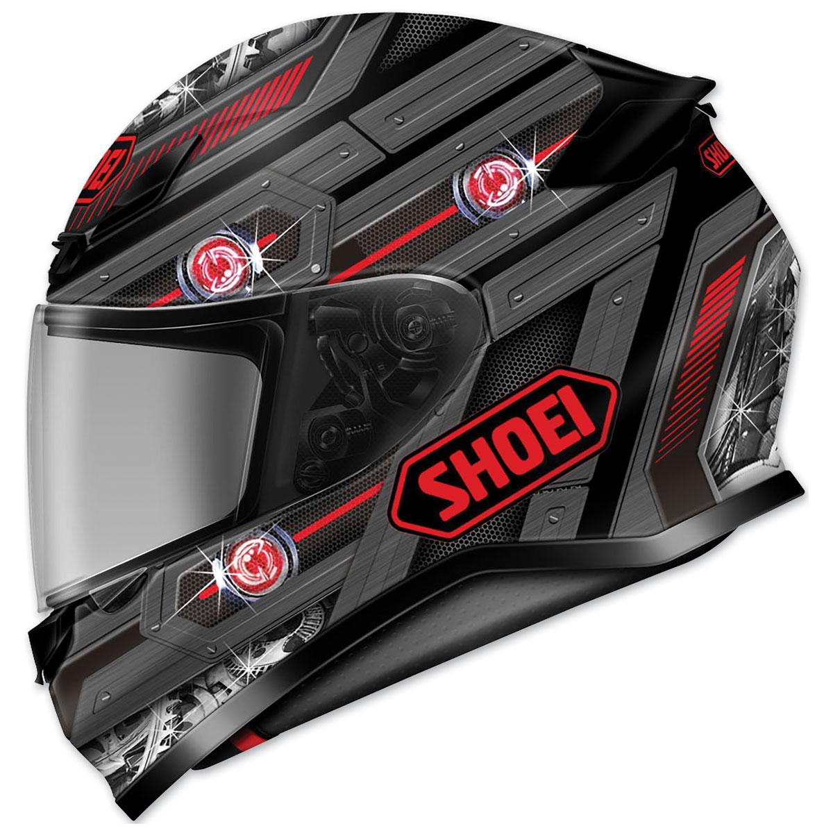 Shoei RF-1200 Trooper Matte Black/Gray/Red Full Face Helmet