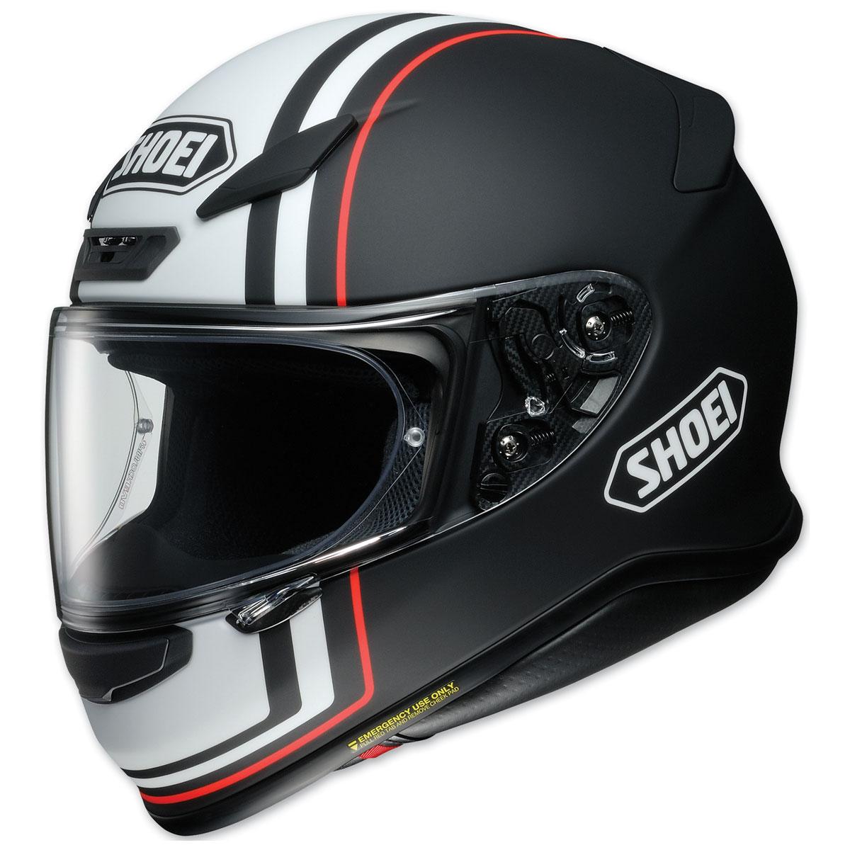 Shoei RF-1200 Recounter Black/White/Red Full Face Helmet