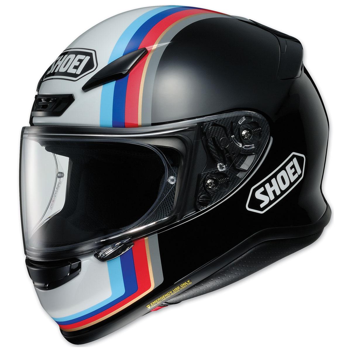 Shoei RF-1200 Recounter Matte Black/Red/White/Blue Full Face Helmet