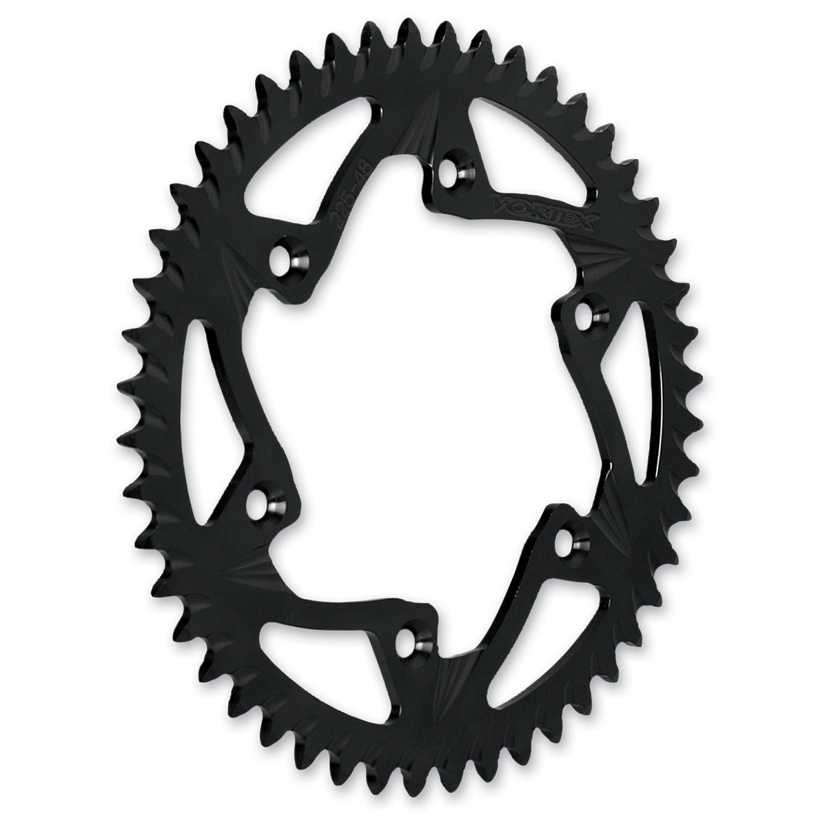 Vortex Rear Sprocket 520 Conversion 48T Black