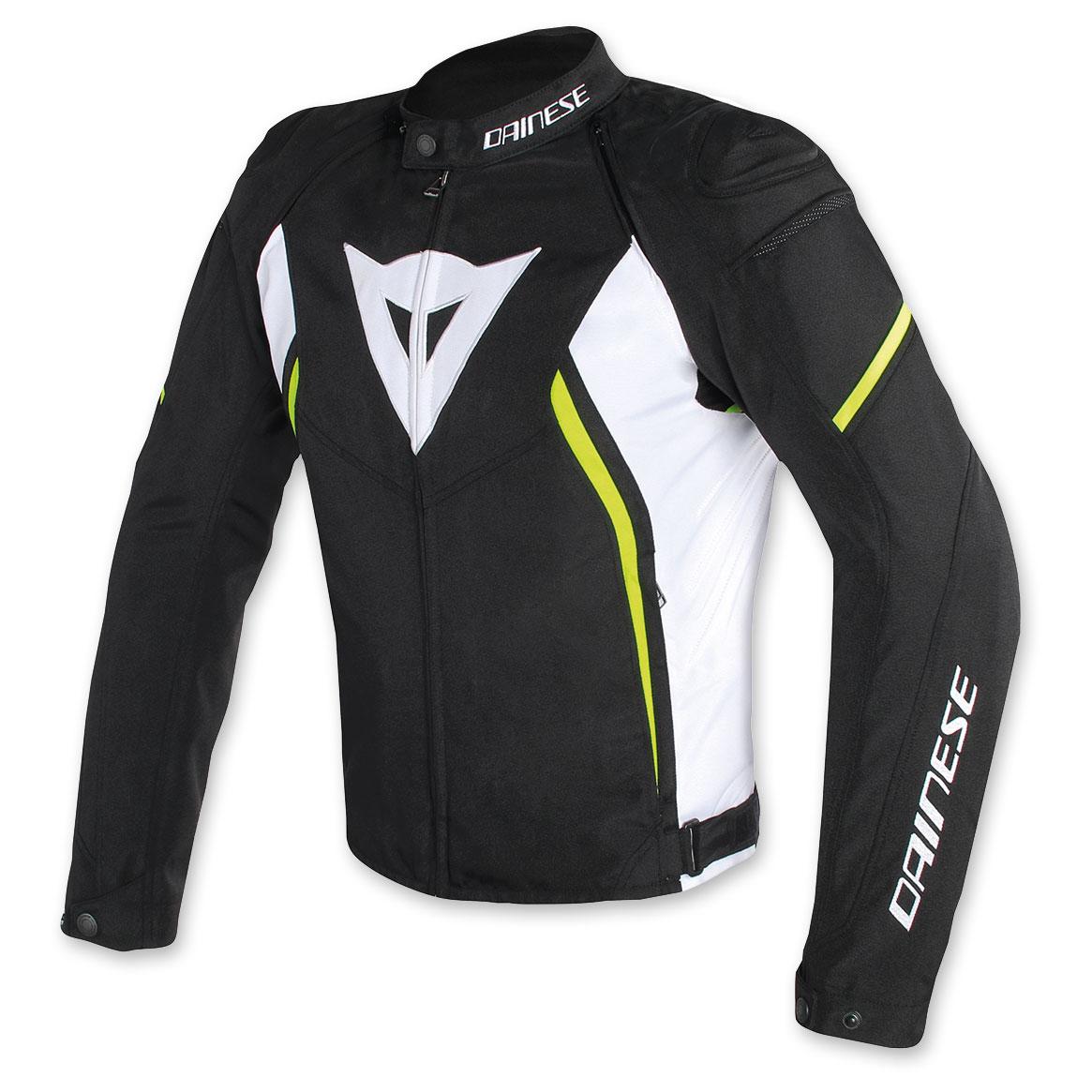 Dainese Men's Avro D2 Black/White/Yellow Jacket