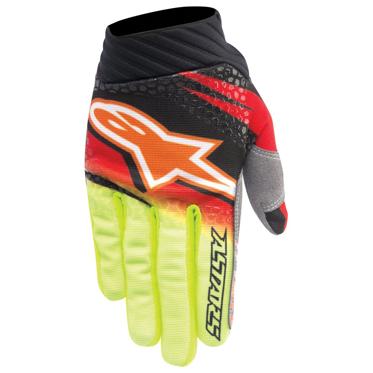 Alpinestars Men's Techstar Venom Red/Yellow Gloves