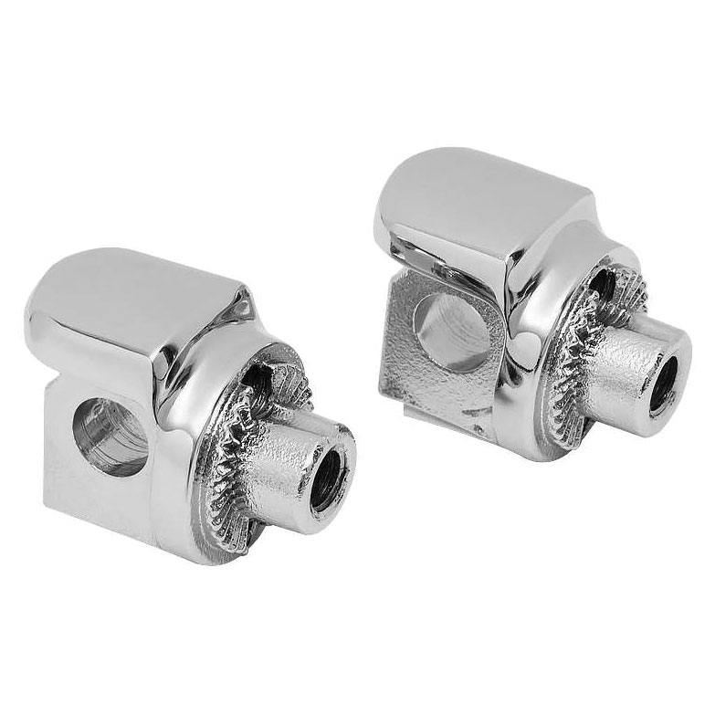 Kuryakyn Chrome Non-Pivoting Splined Adapters