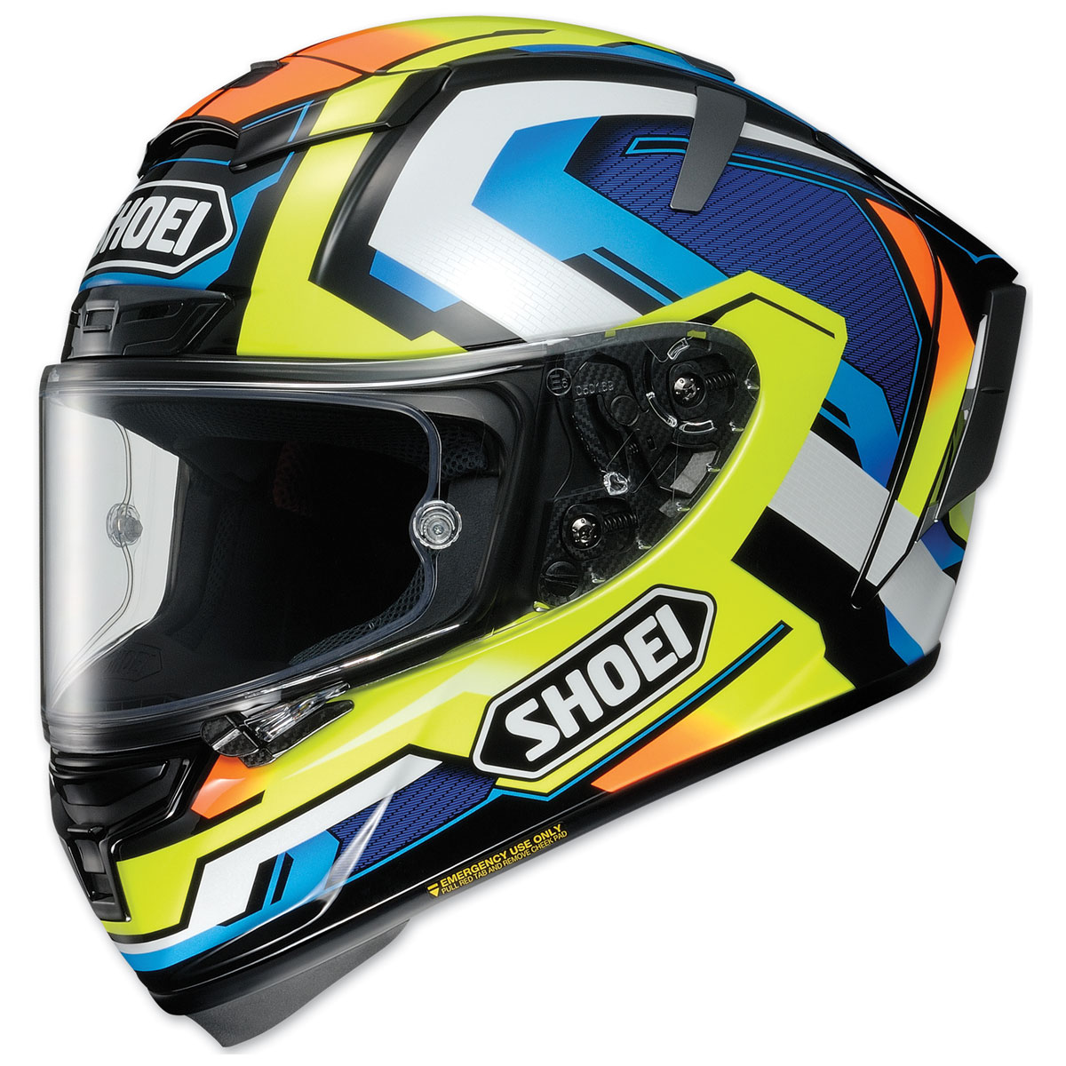 Shoei X-Fourteen Brink Yellow/Blue Full Face Helmet