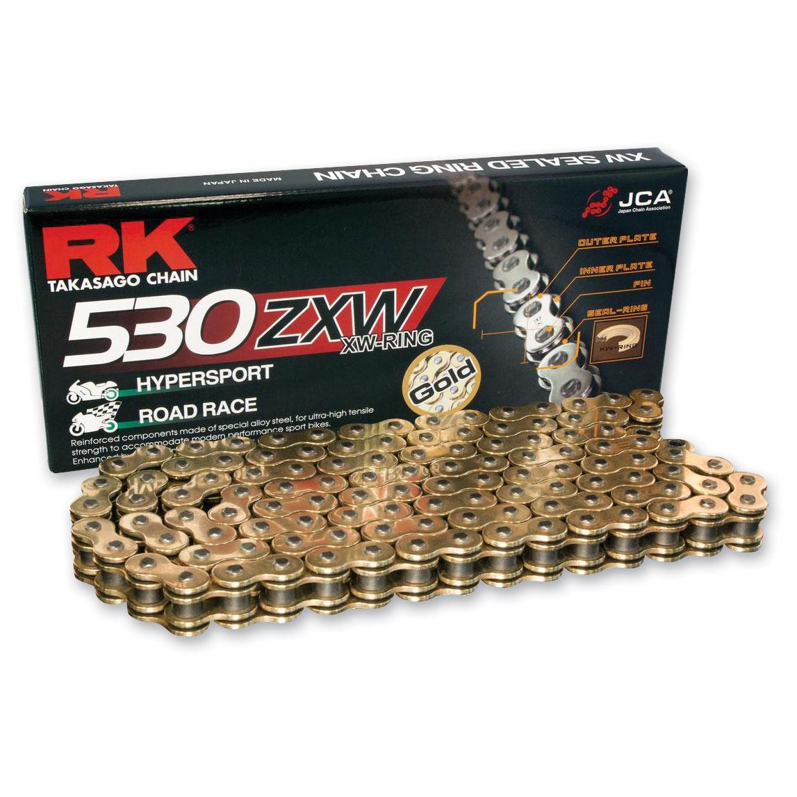 RK Chains ZXW Chain 530 Gold