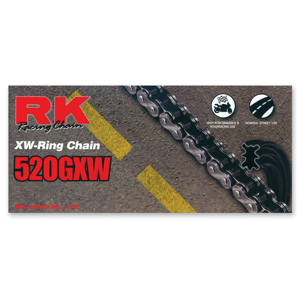 RK Chains GXW Chain 520 Black/Gold