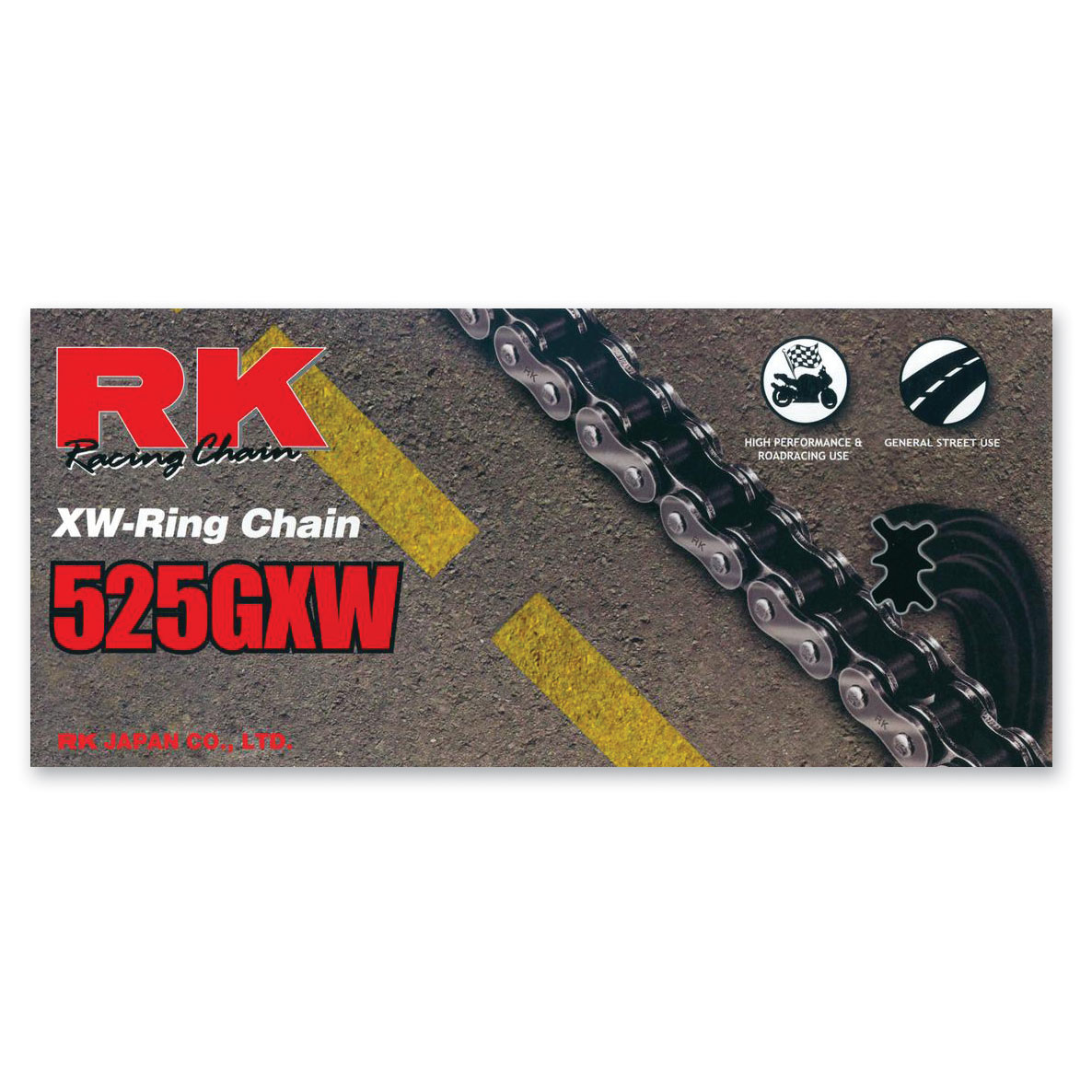 RK Chains GXW Chain 525 Black/Gold 120 Link