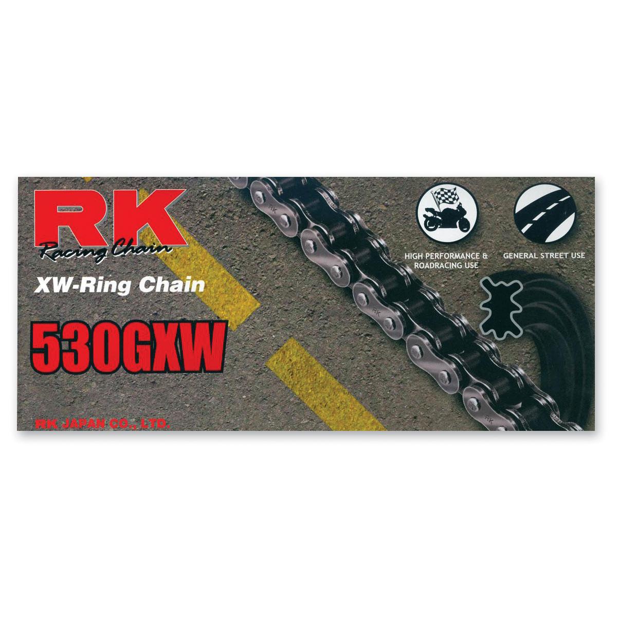 RK Chains GXW Chain 530 Black/Gold
