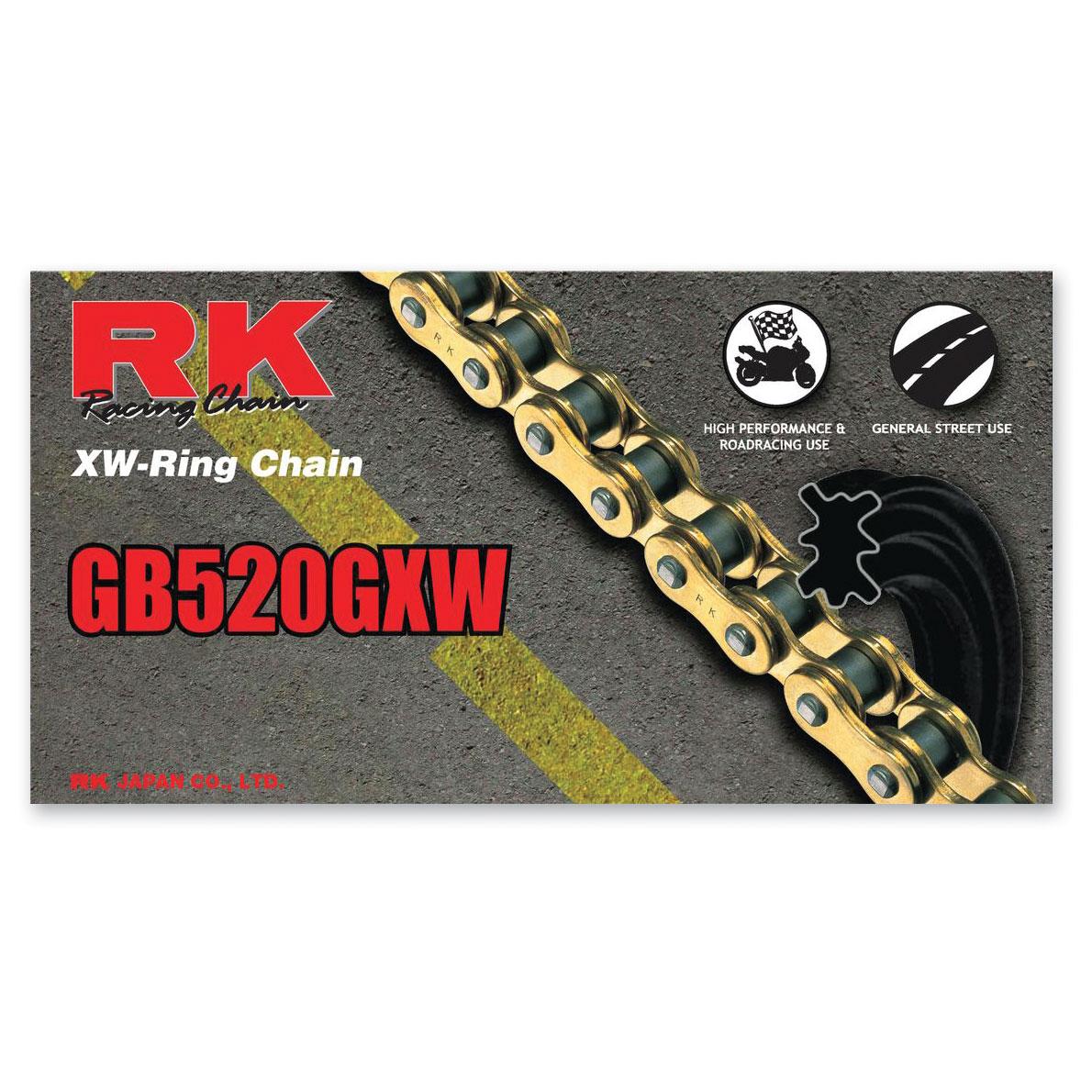 RK Chains GXW Chain 520 Gold