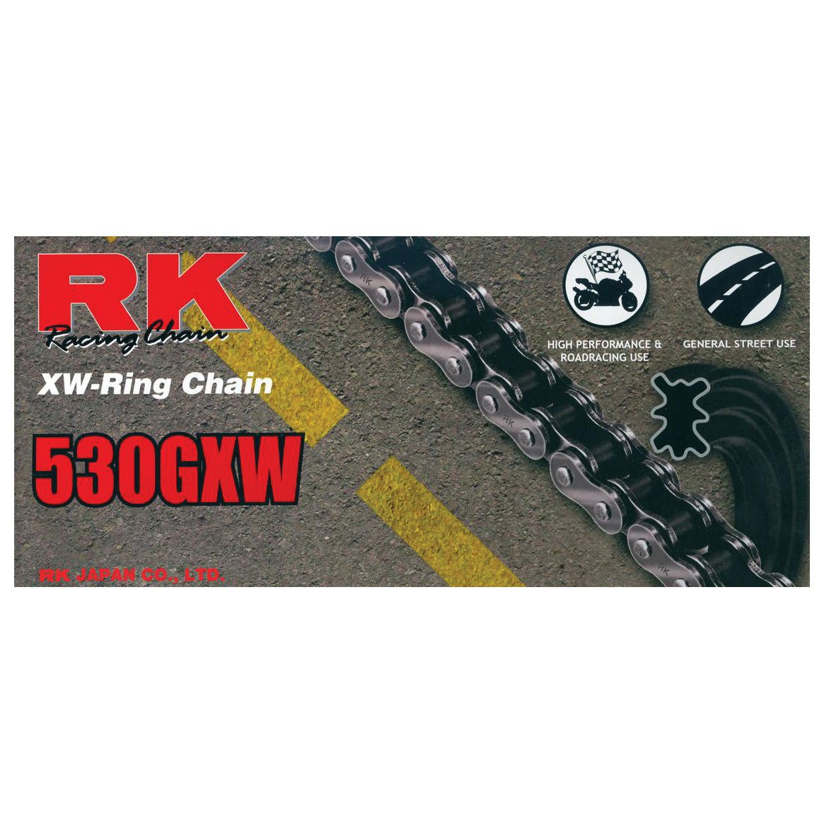 RK Chains GXW Chain 530 Natural