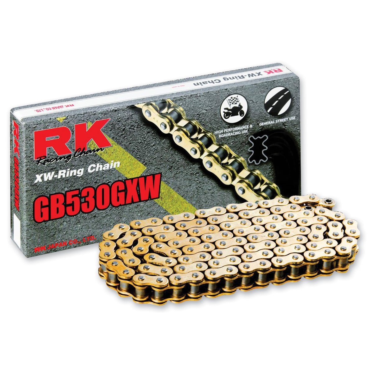 RK Chains GXW Chain 530 Gold