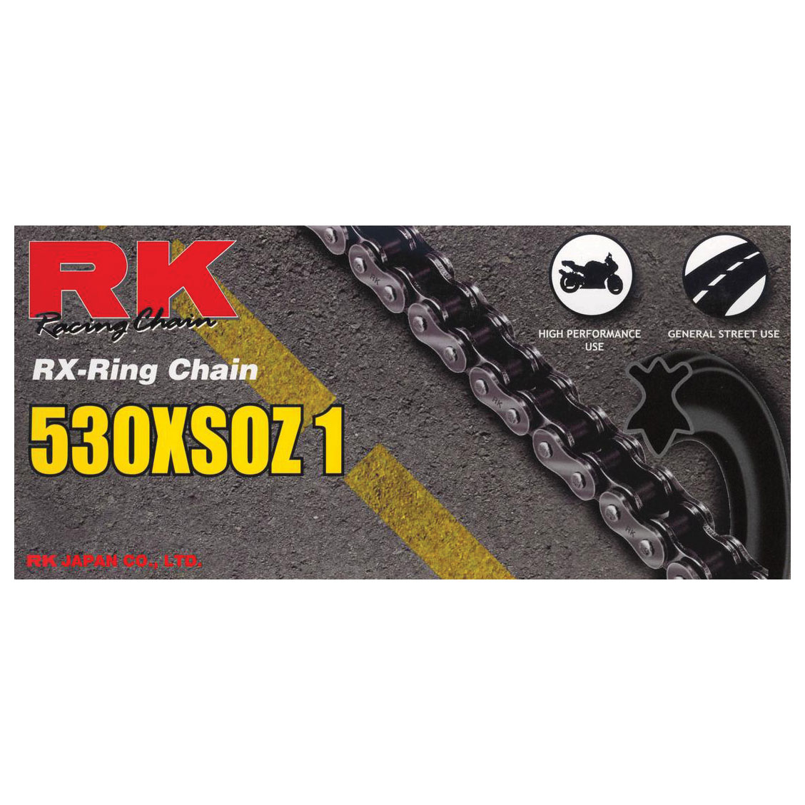 RK Chains XSO Chain 530 Natural