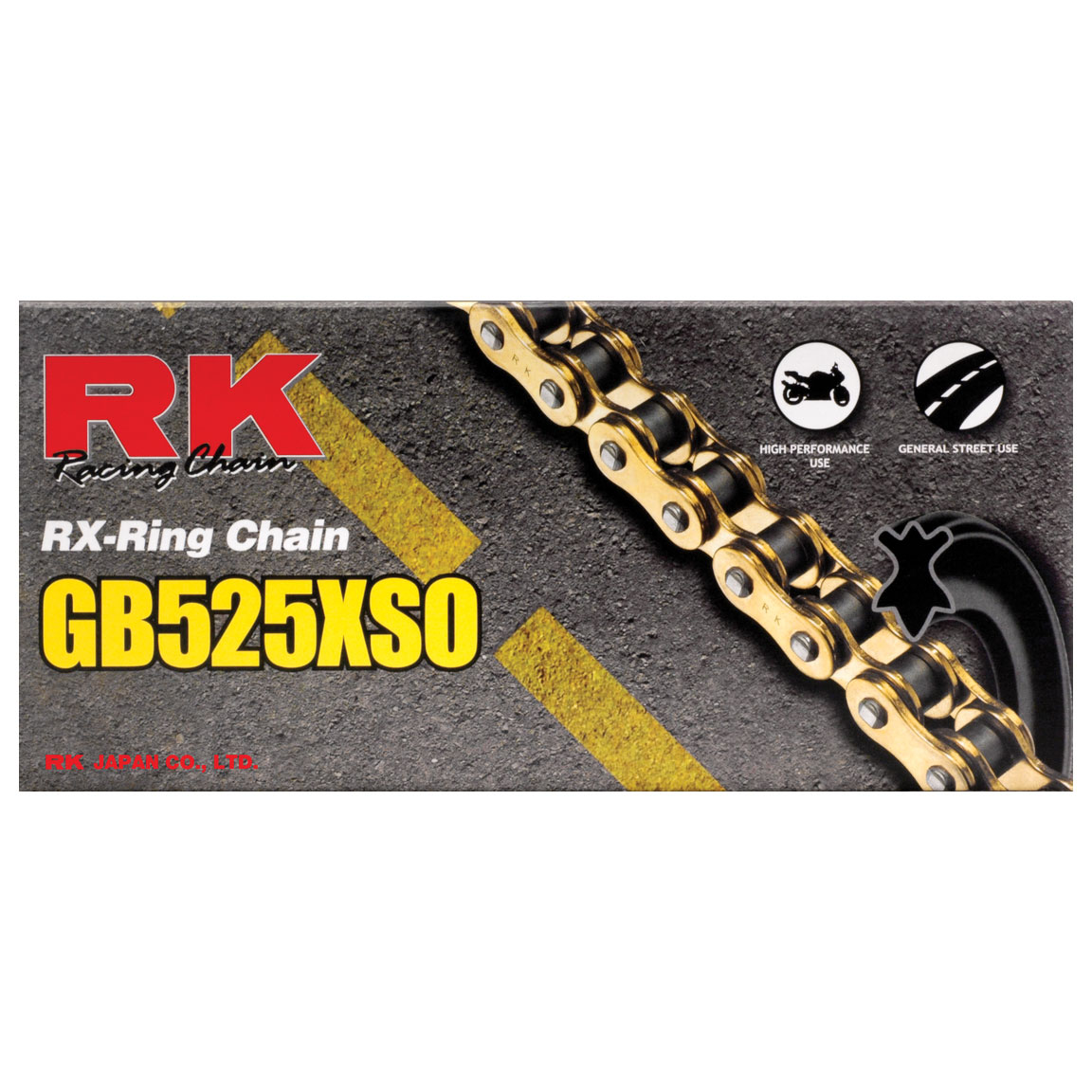 RK Chains XSO Chain 520 Gold