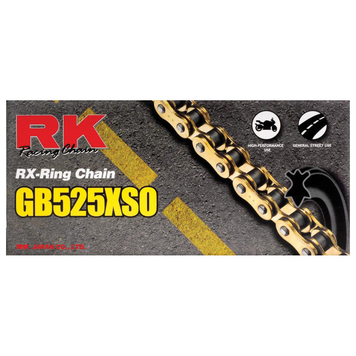 RK Chains XSO Chain 525 Gold