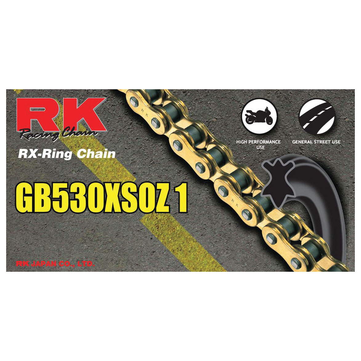 RK Chains XSO Chain 530 Gold