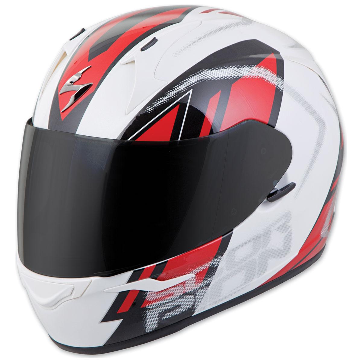 Scorpion EXO EXO-R320 Endeavor White/Red Full Face Helmet