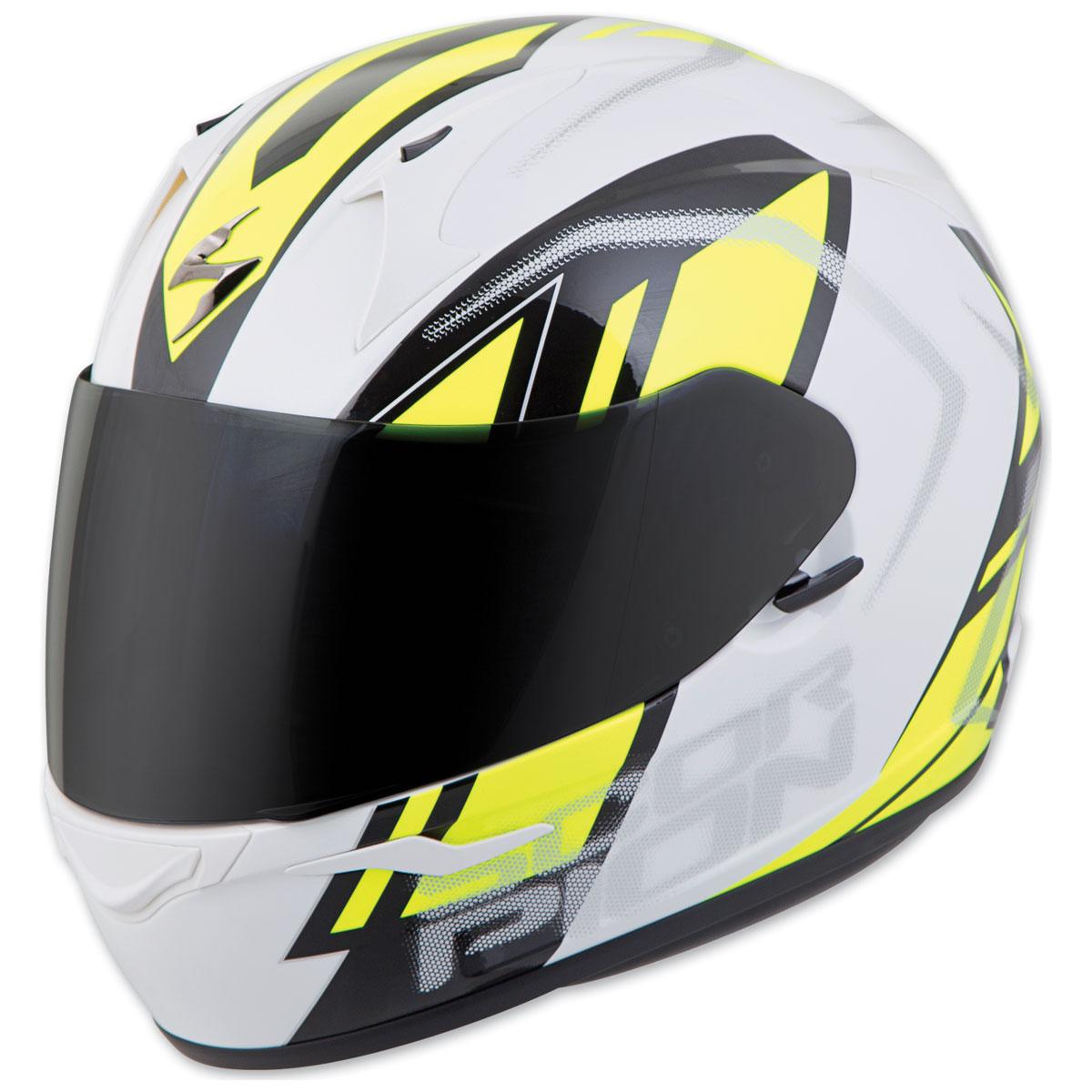 Scorpion EXO EXO-R320 Endeavor White/Neon Full Face Helmet