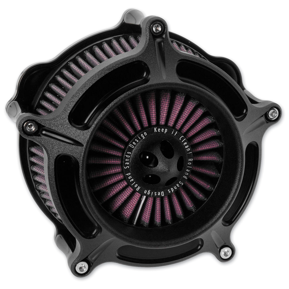 Roland Sands Design Black Ops Turbine Air Cleaner
