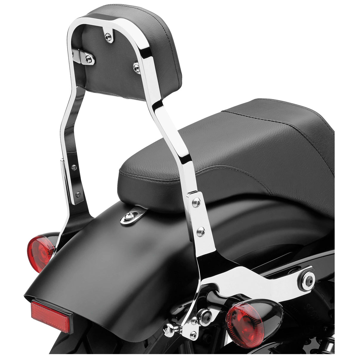 Cobra Detachable Sissy Bar Backrest Mini Square Chrome
