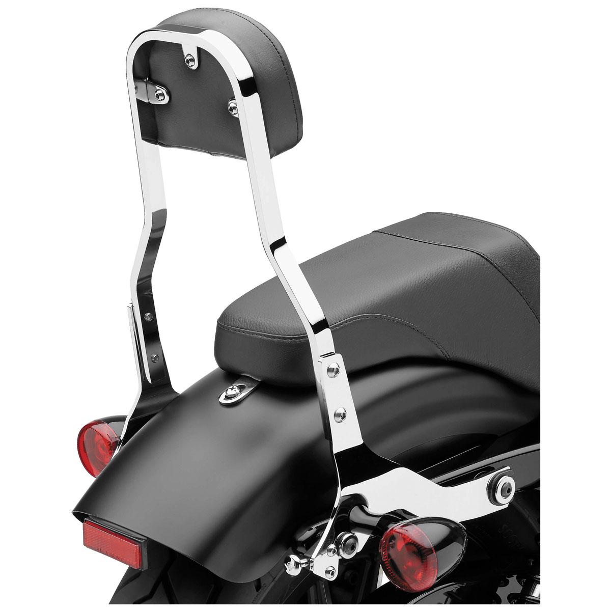 Cobra Detachable Sissy Bar Backrest Short Square Chrome