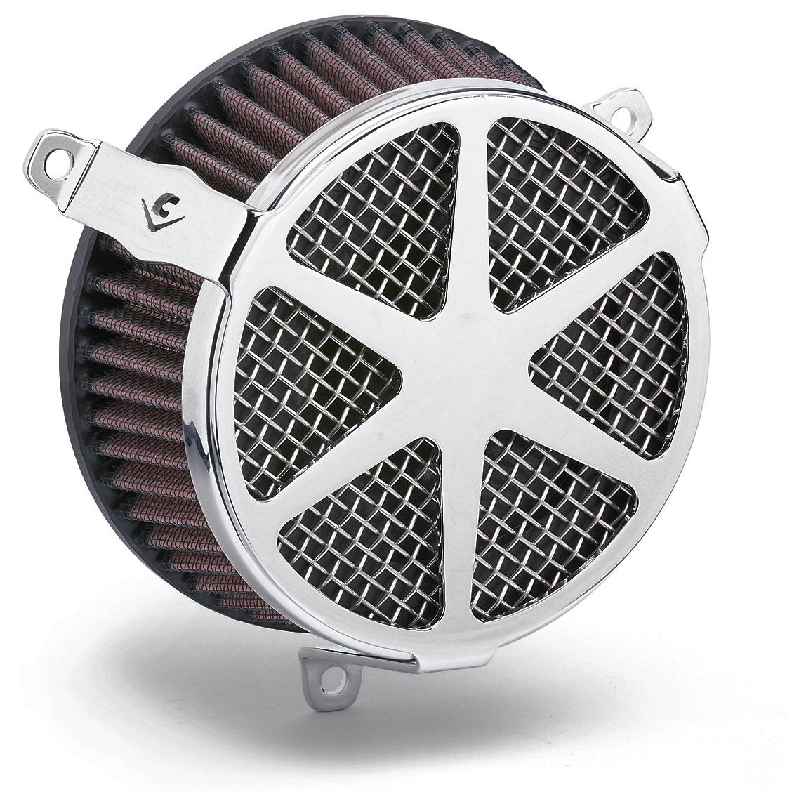 Cobra PowrFlo Air Cleaner Kit Spoke Chrome