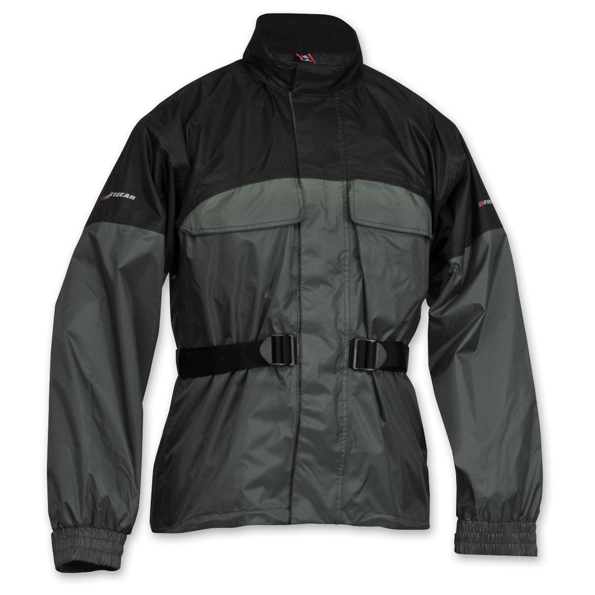 Firstgear Men's Rainman Black/Silver Rain Jacket