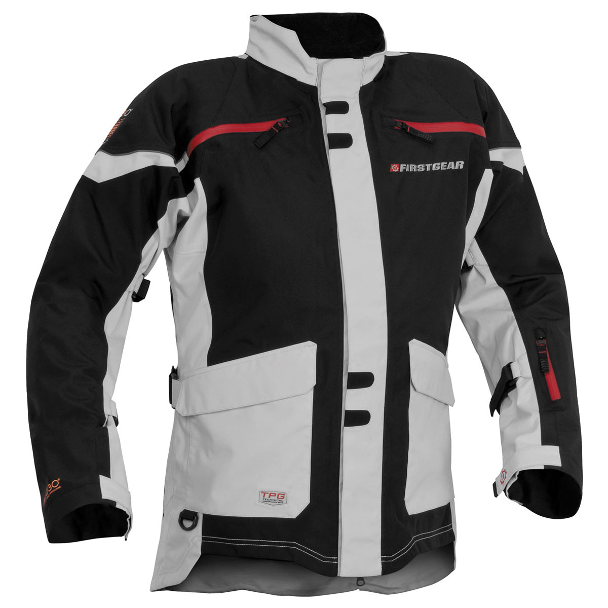 Firstgear Men's TPG Rainier Black/Silver Jacket