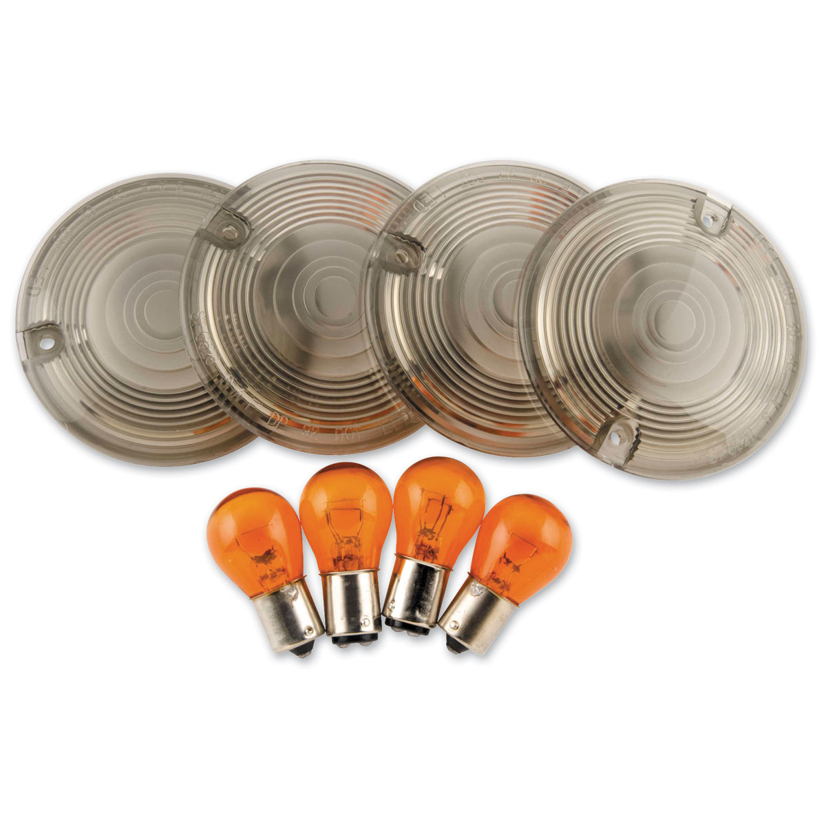 Biker's Choice Smoked Turn Signal Lens Kit