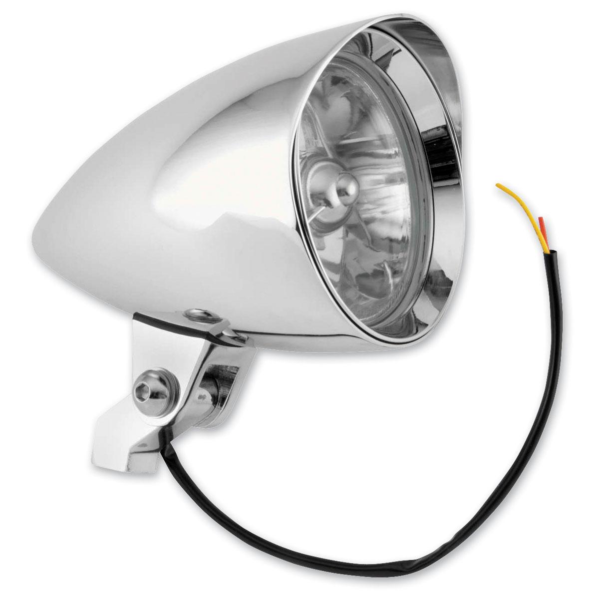 Biker's Choice 4-1/2″ Billet Tri-Bar Headlight, Chrome