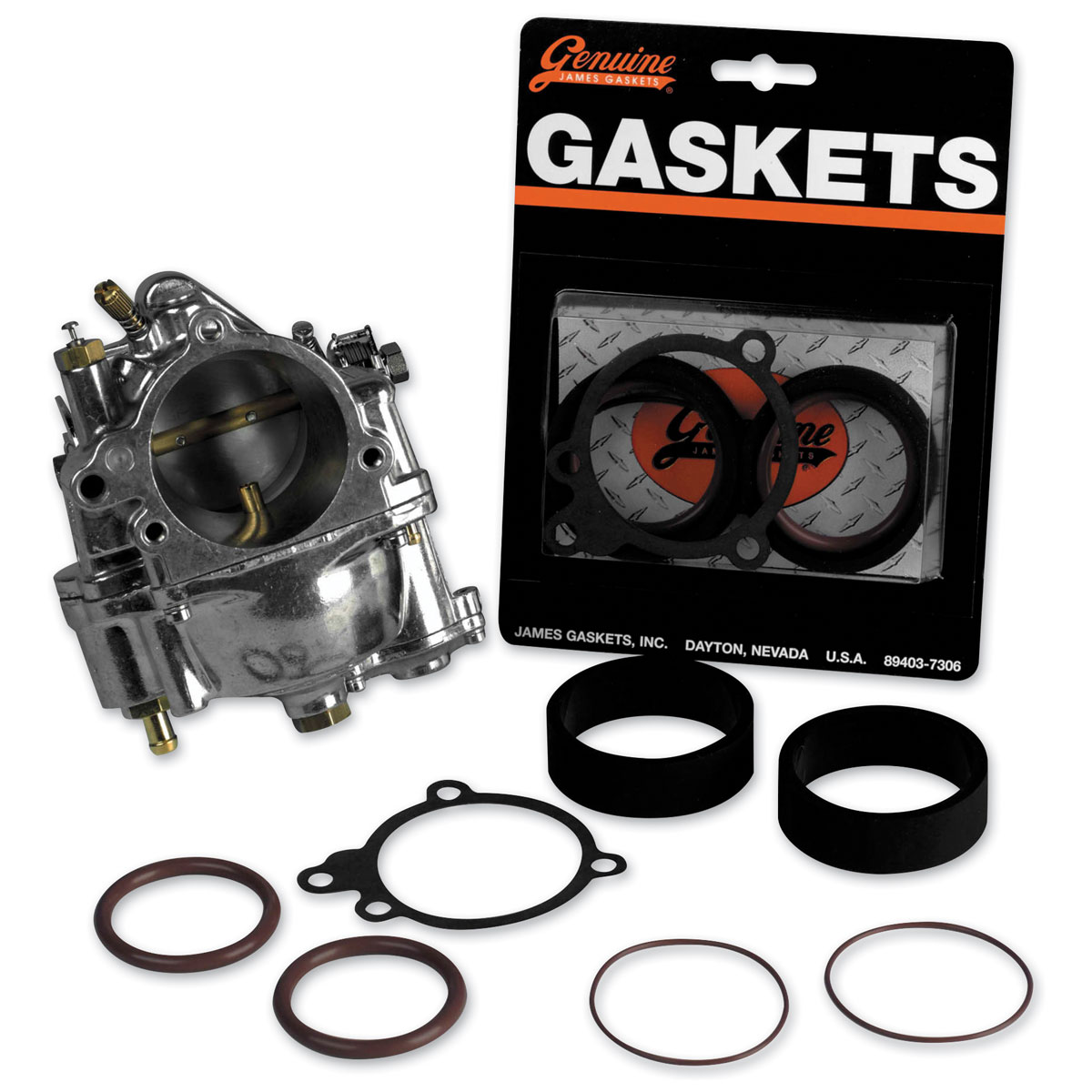 Genuine James S&S Carburetor Intake Gasket Kit