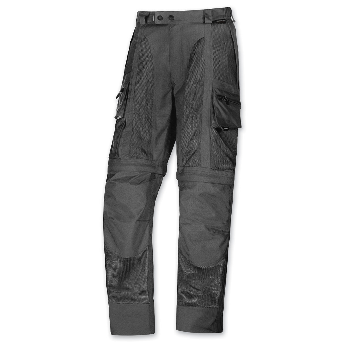Olympia Moto Sports Men's Dakar Mesh Tech Black Pants