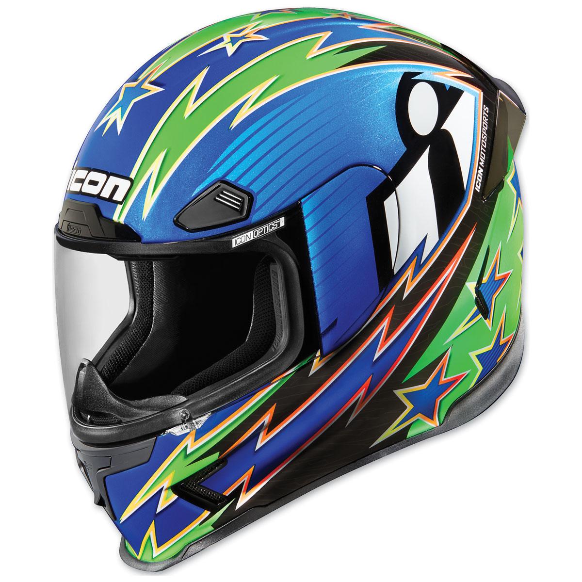 ICON Airframe Pro Warbird Blue Full Face Helmet