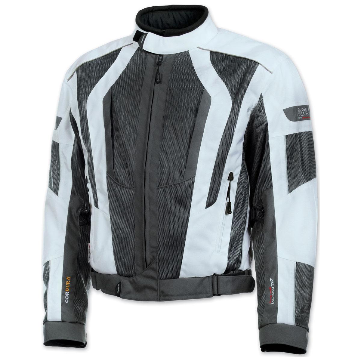 Olympia Moto Sports Men's Airglide 5 Mesh Tech Ivory Jacket