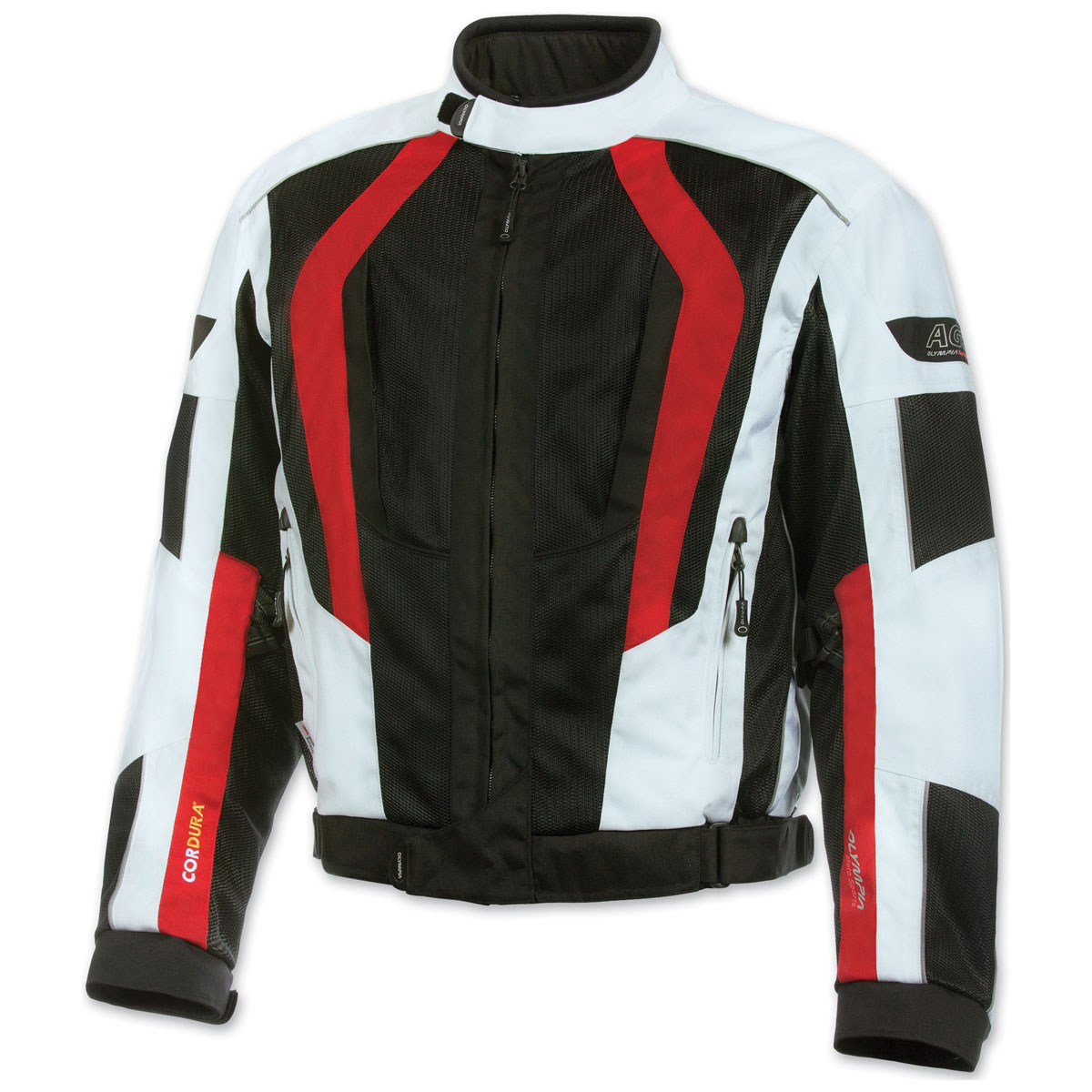 Olympia Moto Sports Men's Airglide 5 Mesh Tech Red Jacket