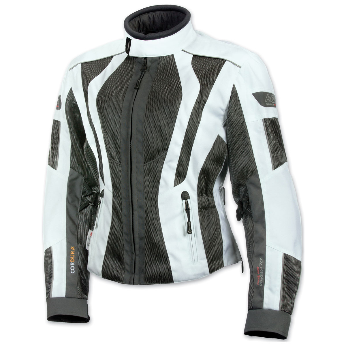 Olympia Moto Sports Women's Airglide 5 Mesh Tech Ivory Jacket