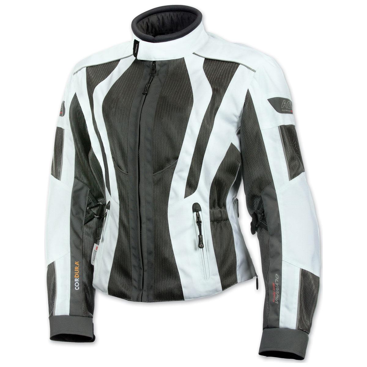 Olympia Moto Sports Women's Airglide 5 Mesh Tech Ivory Jacket