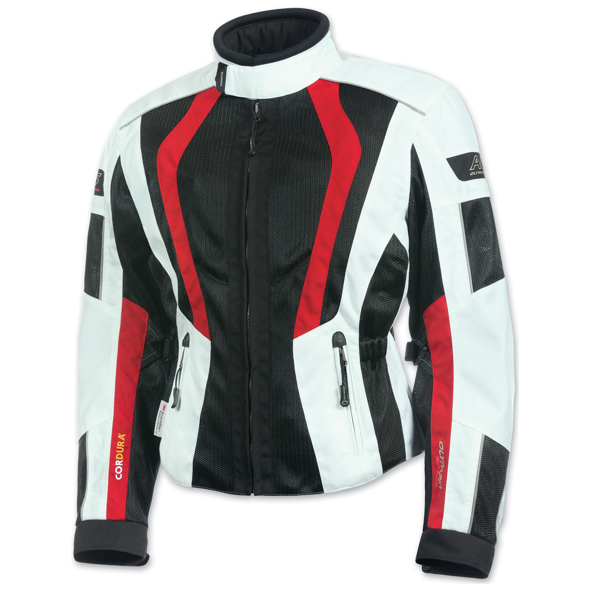 Olympia Moto Sports Women's Airglide 5 Mesh Tech Red Jacket