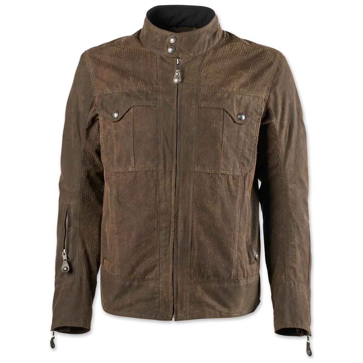 Roland Sands Design Apparel Men's Duro Perf Waxed Cotton Ranger Jacket