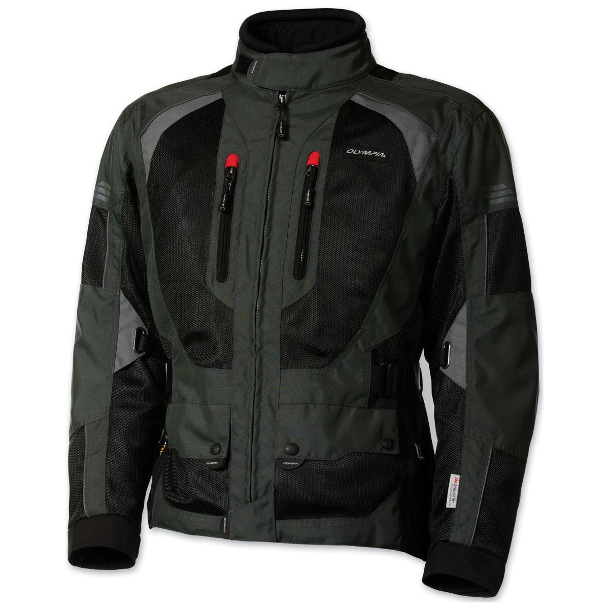 Olympia Moto Sports Men's Dakar 2 Fatigue Gray Jacket