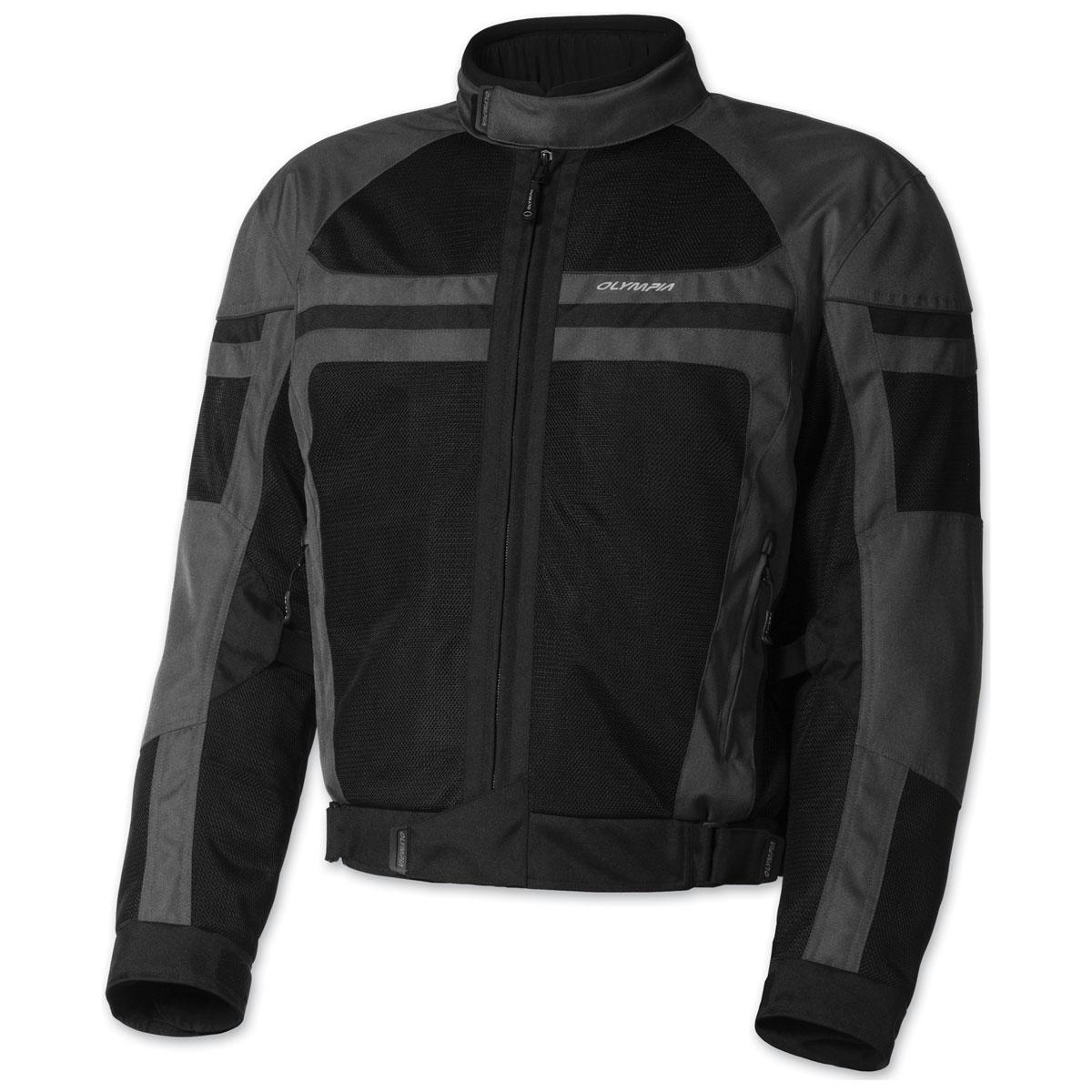 Olympia Moto Sports Men's Newport Gray Jacket