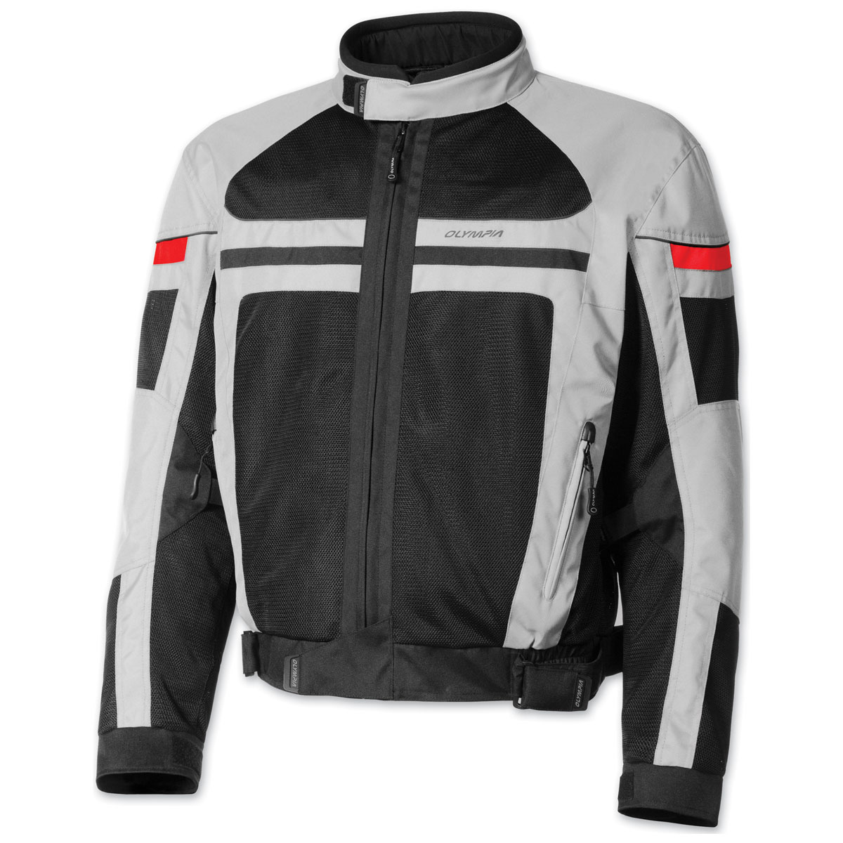 Olympia Moto Sports Men's Newport Silver Jacket