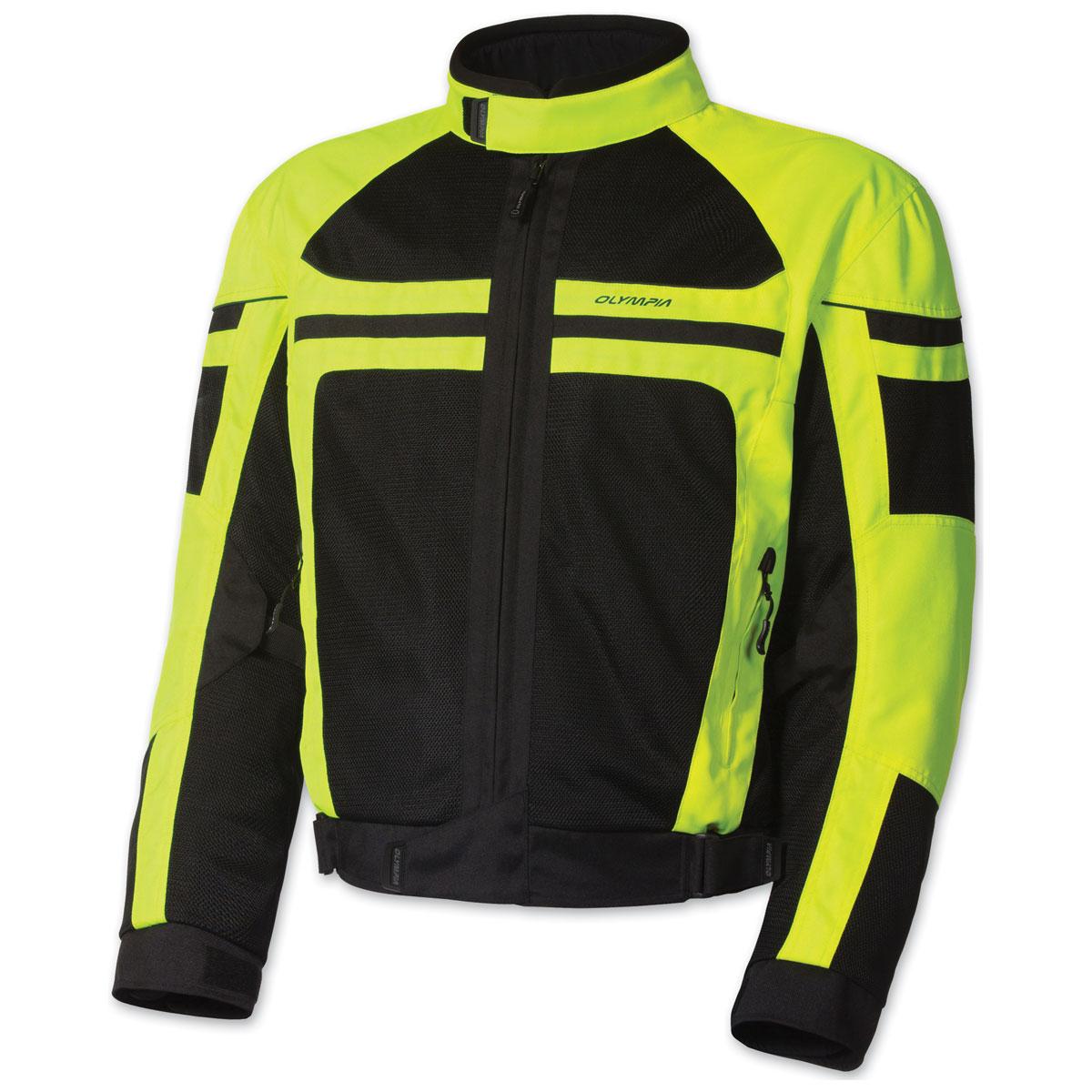 Olympia Moto Sports Men's Newport Neon Yellow Jacket