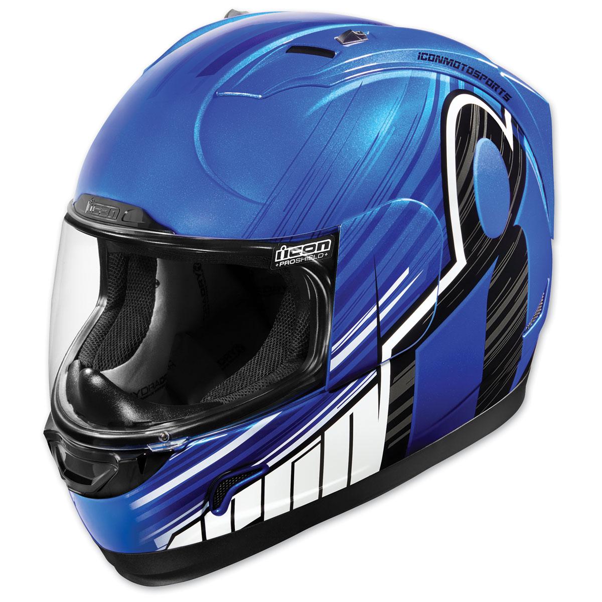 ICON Alliance Overlord Blue Full Face Helmet