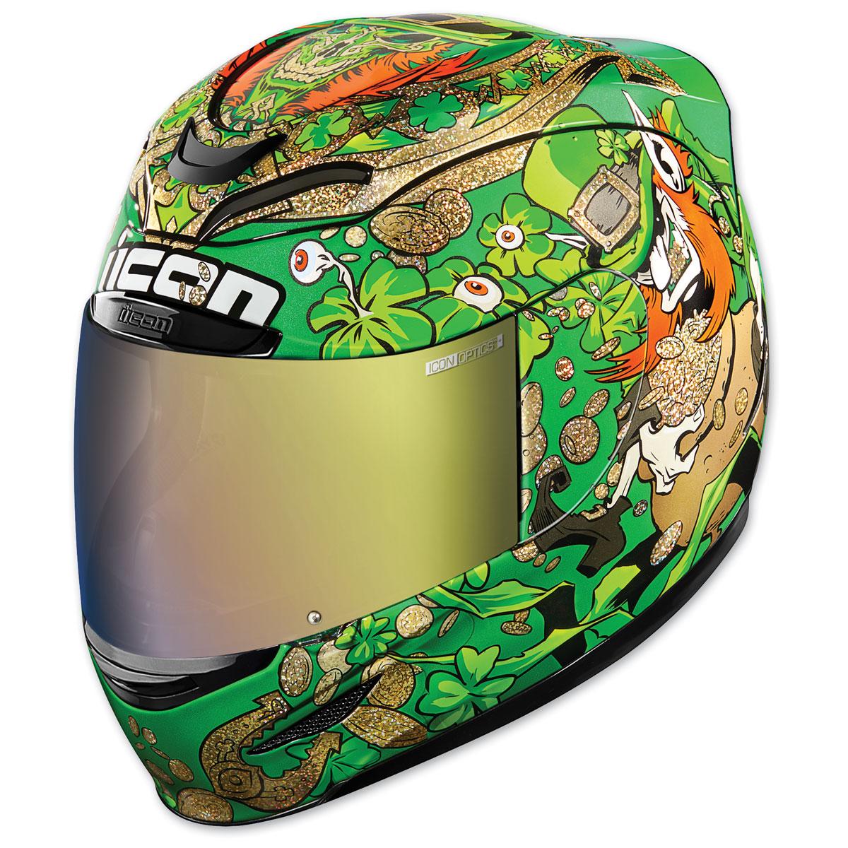 ICON Airmada Lepricon Green Full Face Helmet