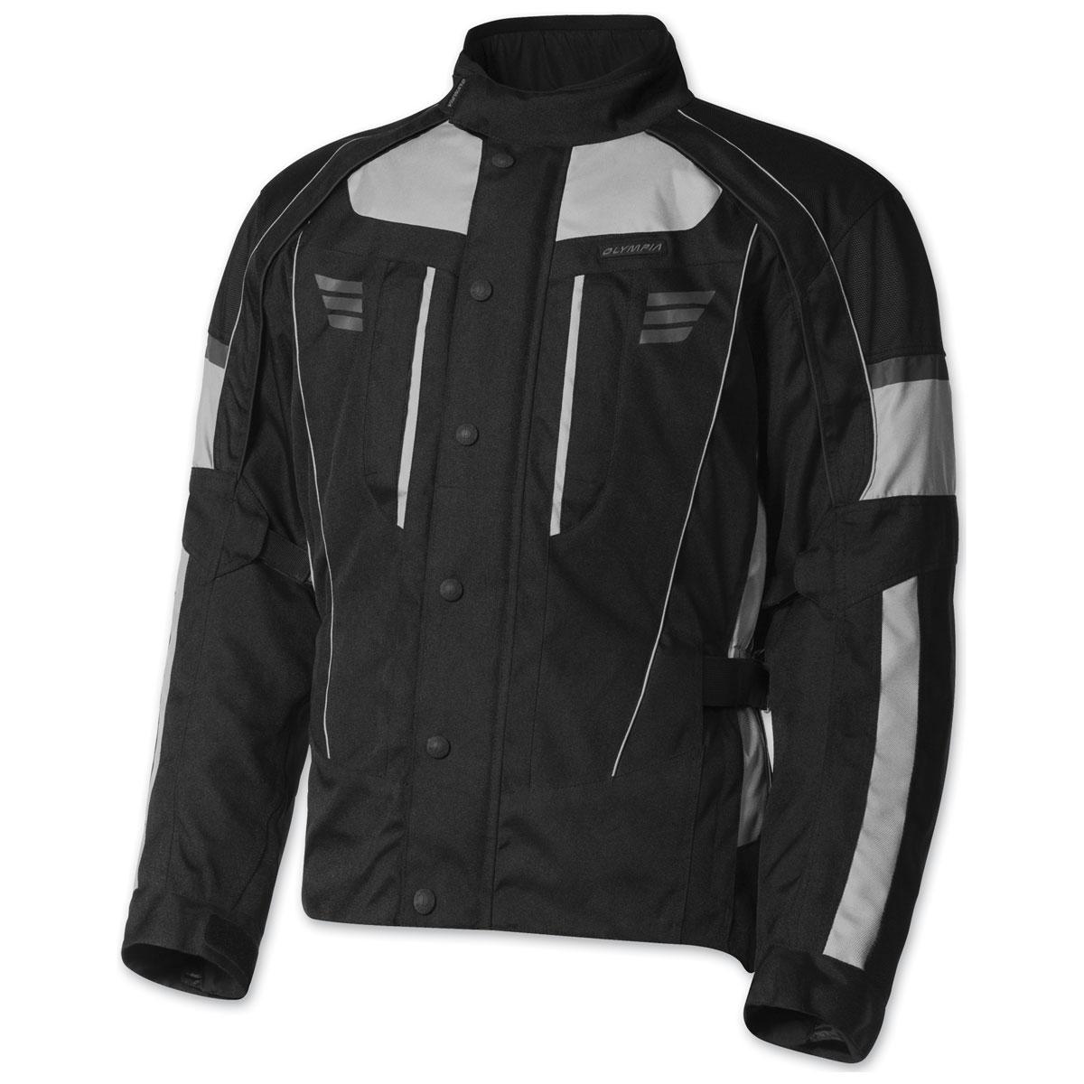 Olympia Moto Sports Men's Durham Silver Jacket