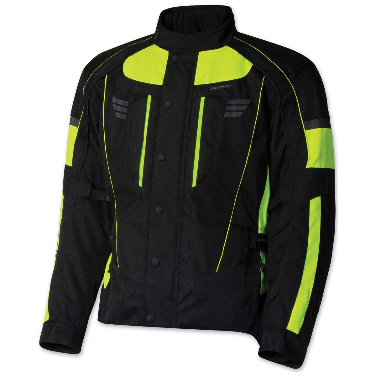 Olympia Moto Sports Men's Durham Neon Yellow Jacket