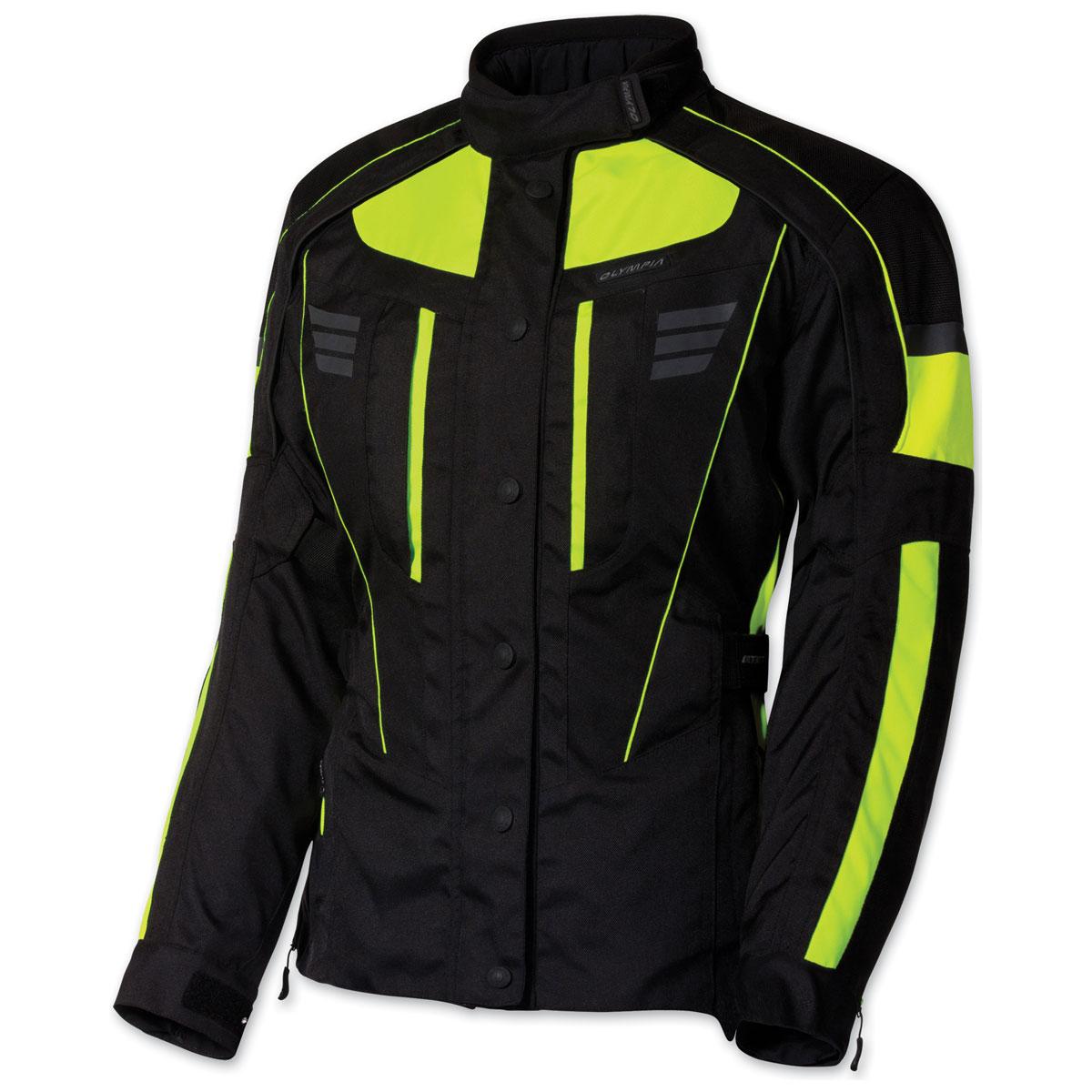 Olympia Moto Sports Women's Durham Neon Yellow Jacket